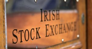 The Iseq overall index underperformed its European peers on Monday, falling 1.3 per cent. Photograph: Dara Mac Dónaill