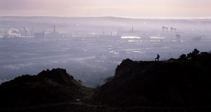 Belfast city , from the top of Cave Hill. 'Belfast will sound louder than you left it, there's just a chance your view of it will have changed for the better.' Photograph: iStock Photo