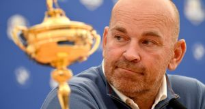 Europe captain Thomas Bjorn  during a press conference in Paris ahead of the  Ryder Cup  at Le Golf National. Photograph:  Stuart Franklin/Getty Images
