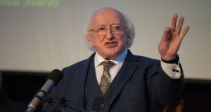 President Michael D Higgins pictured at UCD, Belfield, Co Dublin. Photograph: Tom Honan/The Irish Times