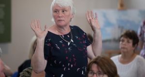 Catherine Byrne  surprised Minister for Housing Eoghan Murphy by publicly opposing a new housing scheme in Inchicore at its launch. Photograph: Tom Honan for The Irish Times