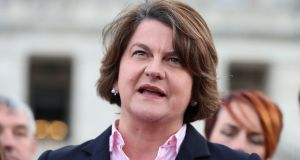 DUP leader Arlene Foster who will give evidence on Tuesday to a public inquiry into Northern Ireland's botched green energy scheme. Photograph: Liam McBurney/PA Wire