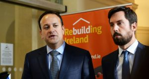Taoiseach Leo Varadkar with Minister for Housing  Eoghan Murphy. File  photograph: Cyril Byrne/The Irish Times
