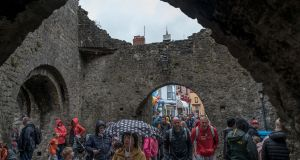 The Five Arches gate, built in the 13th century as part of Tenby's city wall.
