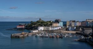 The harbour at Tenby.