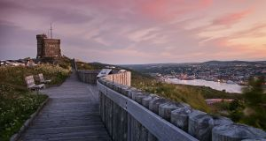 Signal Hill overlooking the region's capital, St John's. Photograph: Destination St John's