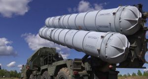 The Russian anti-aicraft missile system S-300, which it says it will supply to Syria in response to last week's downing of a Russian military plane by Syrian forces during an Israeli attack. Photograph:  EPA/Russian Defence Ministry