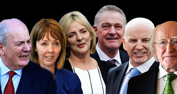 who are the six candidates vying for the presidency