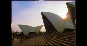 Sydney Opera House. From the film 'An Engineer Imagines'