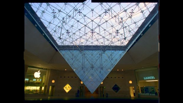 Inverted pyramid at the Louvre in Paris. From 'An Engineer Imagines'