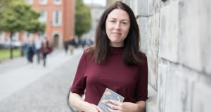 Caitriona Lally,  winner of the Rooney Prize for Irish Literature 2018 for emerging Irish writers at Trinity College Dublin today. Photograph: Paul Sharp / SHARPPIX