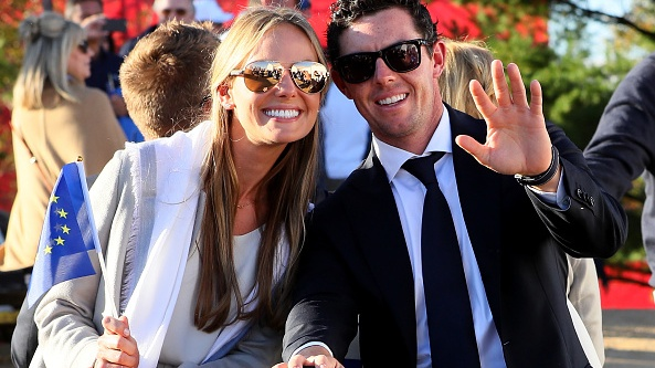 Erica Stoll and Rory McIlroy at the 2016 Ryder Cup opening ceremony. Photograph: Andrew Redington/Getty Images