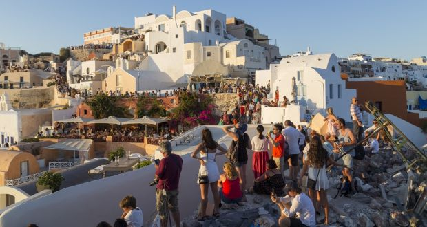 santorini the greek island caught in a tourism trap