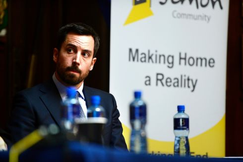 ANNUAL REPORT: Eoghan Murphy Minister for Housing, Planning and Local Government attending the conference at the Mansion House for the Dublin Simon Community annual report. Photograph: Cyril Byrne/The Irish Times
