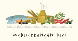 The Mediterranean diet: plenty of fruit, vegetables, nuts, plant-based food and fish. Illustration: iStock