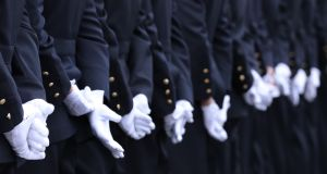Gardaí at a passing out ceremony in Garda College Templemore. Photograph: Eamonn Farrell/RollingNews.ie