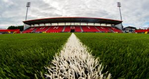 The conversion of Musgrave Park  from natural grass to plastic was  ready in August for the visits of London Irish and Exeter Chiefs for  pre-season friendlies. Photograph: Bryan Keane/Inpho