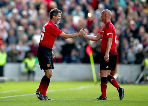 Manchester United's Roy Keane and Nicky Butt. Photograph: Inpho/James Crombie