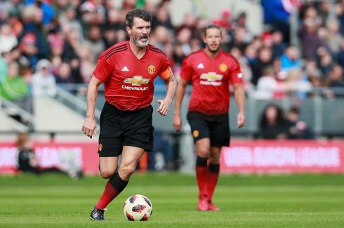 Roy Keane on the ball. Photograph: Inpho/Tommy Dickson