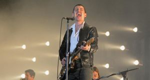 Arctic Monkeys: this Dublin show wasn't vintage Monkeys. Photograph: Didier Messens/Redferns/Getty