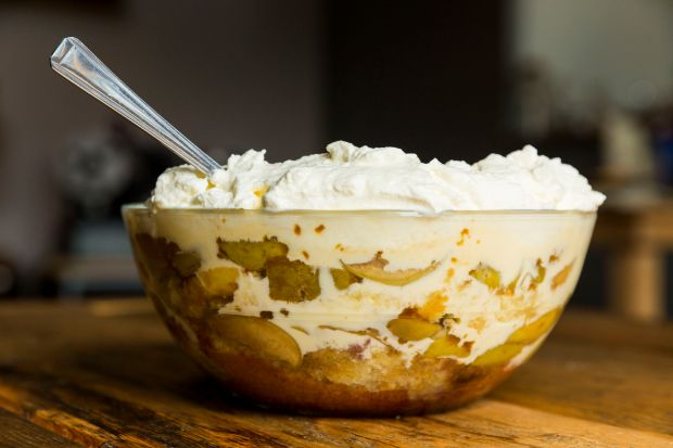 Carmel Somers's toffee apple and brandy trifle