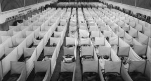 The Flu That Killed 50 Million: at the US army base where the virus mutated, rows of white sickbeds stretch out like tombstones. Photograph: US Naval History & Heritage Command/BBC