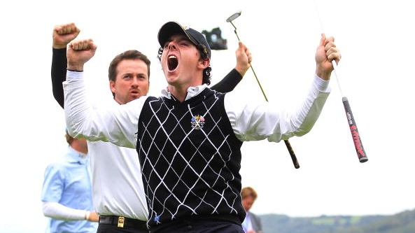 Rory McIlroy during the 2010 Ryder Cup at Celtic Manor. Photograph: Jamie Squire/Getty Images