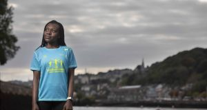 Sibusisiwe (Busie) Mhlophe at the marina  in Cork city centre near where she runs with her club Togher AC. Photograph:  Clare Keogh