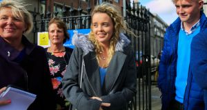 Rebecca Carter of Castlebridge, Co  Wexford leaves the High Court in  Dublin. Photograph:  Gareth Chaney/Collins