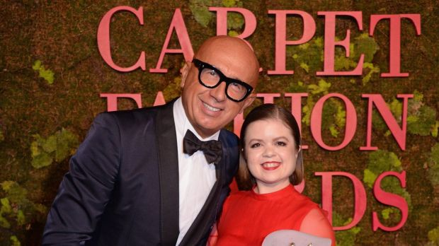 Marco Bizzarri of Gucci with Sinéad Burke at the Green Carpet Fashion Awards in Milan last month. Photograph: David M Benett/Getty