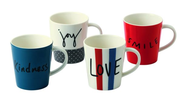 Ellen DeGeneres mug designs for Royal Doulton.