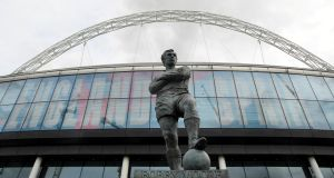 The Bobby Moore statue outside Wembley Stadium. File photograph: Toby Melville/Reuters