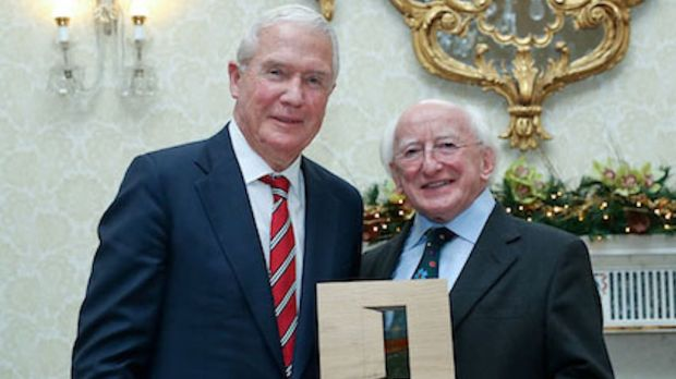 Norman P. McClelland received a Presidential Distinguished Service Award for the Irish Abroad from President Michael D Higgins for his charitable works in 2016.
