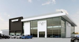 An illustration of Joe Duffy Group's new BMW facility off the M50 at Charlestown, Dublin, following a €13 million investment. It is due to open at the end of next month.