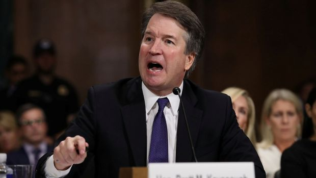 "Supreme court nominee Brett Kavanaugh vigorously denied the accusations and chastised the committee for conducting a ""circus"". Photograph: Win McNamee/Pool via Reuters"