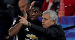 Manchester United manager Jose Mourinho has stripped Paul Pogba of the club's vice-captaincy. Photograph: Reuters