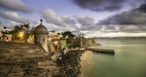 Old San Juan in Puerto Rico, at dusk. Photograph: iStock
