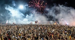 Galatasaray supporters celebrate their title success in Istanbul in May. Photograph: Yasin Akgul/AFP/Getty Images