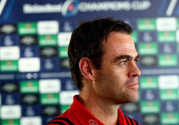 Munster rugby head coach, Johann van Graan Photograph: James Crombie/INPHO