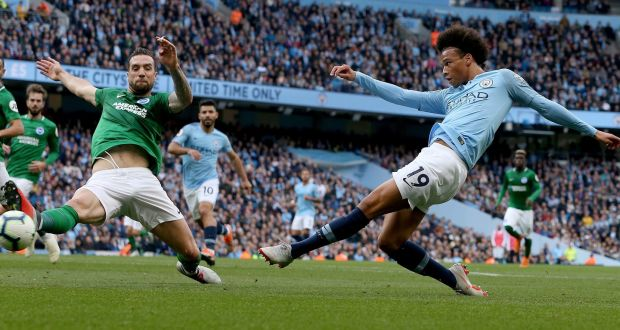 sterling and agüero on target as manchester city go top