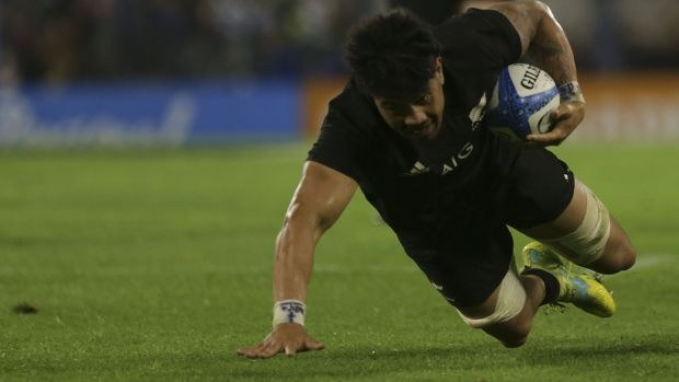 Ardie Savea during the match. Photograph: Daniel Jayo/Getty Images