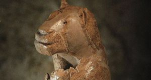 Detail from the Lion man of the Hohlenstein Stadel, ca 32,000BC. Photograph: Fine Art Images/Heritage Images/Getty Images