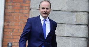 Fianna Fáil leader Micheál Martin has asked the party's justice spokesman, Jim O'Callaghan, a senior counsel, to examine whether the Kenny Report could be implemented without the need for a referendum on the right to own private property. Photograph: Cyril Byrne / THE IRISH TIMES