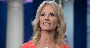 Kellyanne Conway: 'I feel very empathetic, frankly, towards victims of sexual assault and sexual harassment and rape.' Photograph:   Nicholas Kamm/AFP/Getty Images
