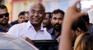 Maldivian president-elect Ibrahim Mohamed Solih: his triumph is regarded as an important strategic victory for India. Photograph: Ashwa Faheem