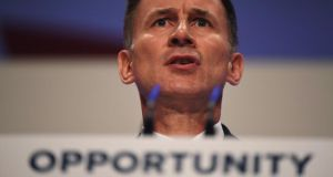 "Jeremy Hunt: ""What happened to the confidence and ideals of the European dream?"" Photograph: Jeff J Mitchell/Getty Images"