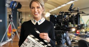 Amy Huberman on the set of 'Finding Joy', a comedy drama made for RTÉ by Treasure Entertainment