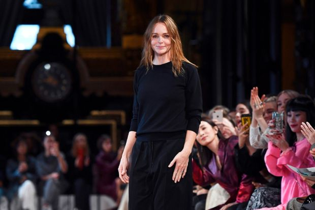Paris Fashion Week: Stella McCartney at her spring-summer 2019 show. Photograph: Anne-Christine Poujoulat/AFP