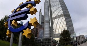 ECB headquarters in Frankfurt, Germany. Looking back at the government's decision to guarantee the Irish banks  10 years ago,  with no help forthcoming from the ECB, taoiseach Brian Cowen was left with no good options