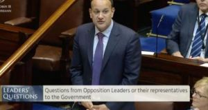 Taoiseach Leo Varadkar speaks in the Dáil on Tuesday.